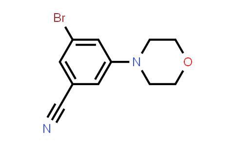 3-Bromo-5-morpholinobenzonitrile