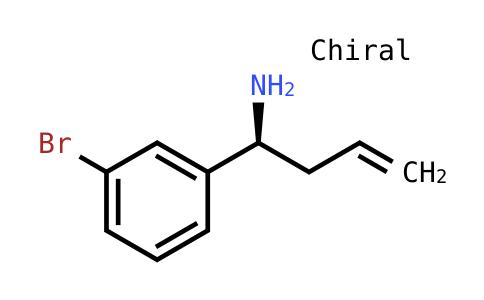 (S)-1-(3-Bromophenyl)but-3-EN-1-amine