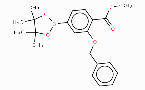 3-Benzyloxy-4-methoxycarbonylphenylboronic acid, pinacol ester
