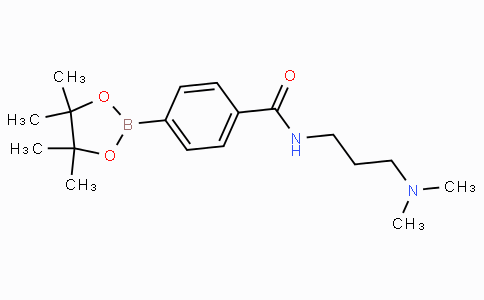 4-(3-(Dimethylamino)propylcarbamoyl)phenylboronic acid pinacol ester