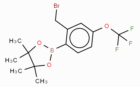 2-Bromomethyl-4-trifluoromethoxyphenylboronic acid, pinacol ester