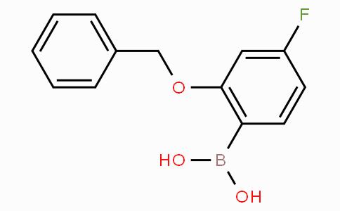 2-Benzyloxy-4-fluorophenylboronic acid