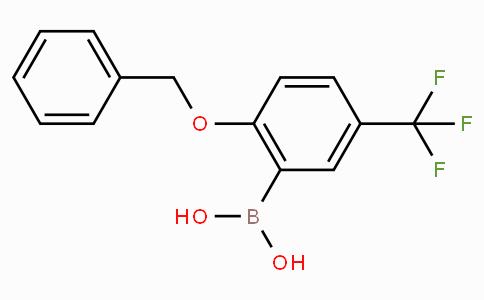 2-Benzyloxy-5-trifluoromethylphenylboronic acid