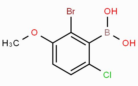 2-Bromo-6-chloro-3-methoxyphenylboronic acid