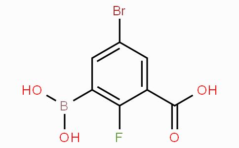 5-Bromo-3-carboxy-2-fluorophenylboronic acid
