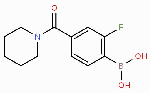 2-Fluoro-4-(piperidine-1-carbonyl)phenylboronic acid