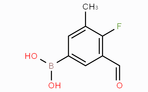 4-Fluoro-3-formyl-5-methylphenylboronic acid