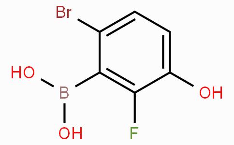 6-Bromo-2-fluoro-3-hydroxyphenylboronic acid