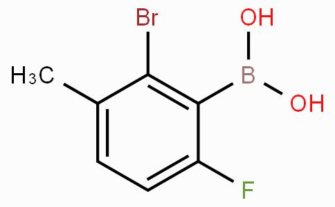 2-Bromo-6-fluoro-3-methylphenylboronic acid
