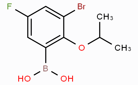3-Bromo-5-fluoro-2-isopropoxyphenylboronic acid