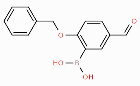 2-Benzyloxy-5-formylphenylboronic acid