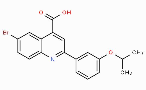 6-Bromo-2-(3-isopropoxyphenyl)quinoline-4-carboxylic acid