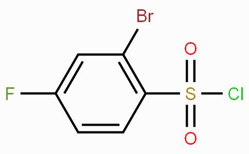 2-Bromo-4-fluorobenzenesulphonyl chloride