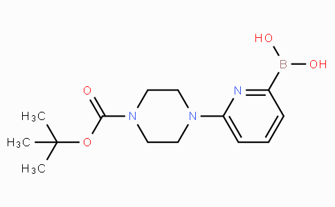6-(4-(tert-Butoxycarbonyl)piperazin-1-yl)pyridine-2-boronicacid