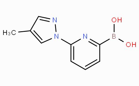 6-(4-Methyl-1H-pyrazol-1-yl)pyridine-2-boronicacid