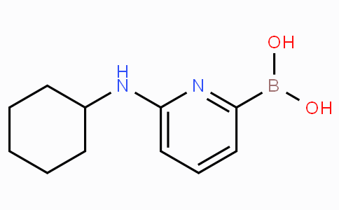 6-(Cyclohexylamino)pyridine-2-boronicacid