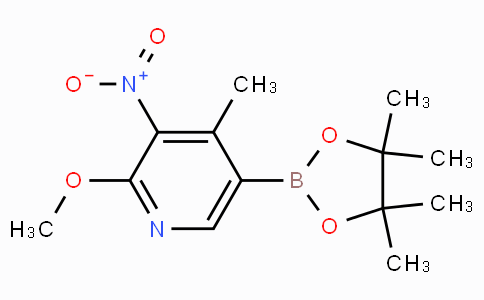 2-Methoxy-4-methyl-3-nitropyridine-5-boronicacidpinacolester