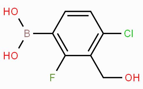 4-Chloro-2-fluoro-3-hydroxymethylphenylboronic acid