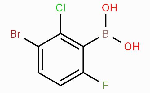 3-溴-2-氯-6-氟苯基硼酸