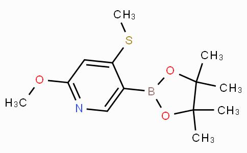 2-Methoxy-4-(methylthio)pyridine-5-boronic acid pinacol ester
