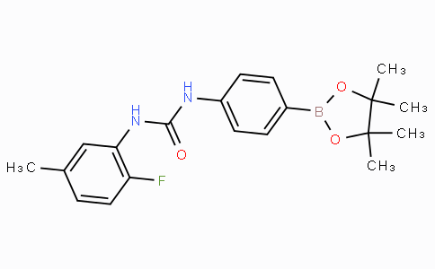 (4-(3-(2-Fluoro-5-methylphenyl)ureido)phenyl)boronic acid pinacol ester