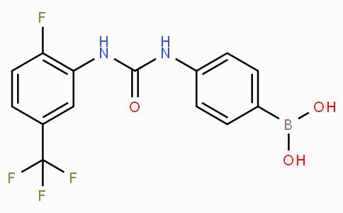 (4-(3-(2-Fluoro-5-(trifluoromethyl)phenyl)ureido)phenyl)boronic acid
