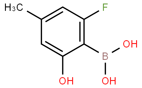 2-Fluoro-6-hydroxy-4-methylphenylboronic acid
