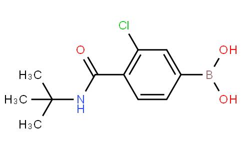 3-Chloro-4-(N-tert-butylcarbamoyl)phenylboronic acid