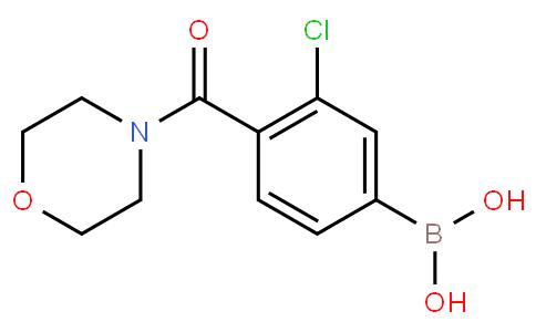 3-Chloro-4-(morpholine-4-carbonyl)phenylboronic acid