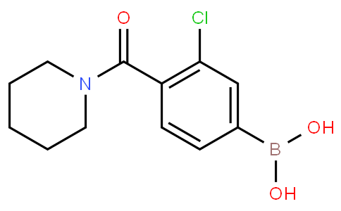3-Chloro-4-(piperidine-1-carbonyl)phenylboronic acid