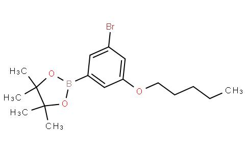 5-Bromo-3-pentyloxyphenylboronic acid pinacol ester