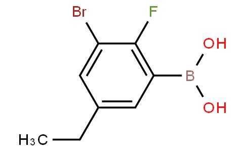 3-Bromo-5-ethyl-2-fluorophenylboronic acid