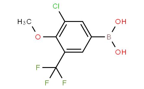 3-Chloro-4-methoxy-5-(trifluoromethyl)phenylboronic acid