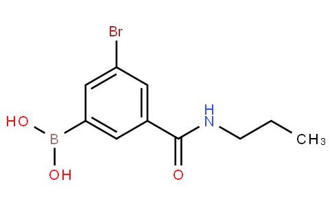 5-Bromo-3-(N-propylaminocarbonyl)phenylboronic acid