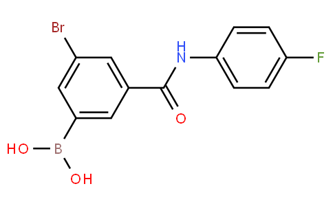 5-Bromo-3-(4-fluorophenyl)aminocarbonylphenylboronic acid