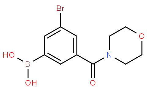 5-Bromo-3-(morpholine-4-carbonyl)phenylboronic acid
