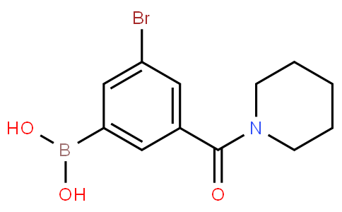 5-Bromo-3-(piperidine-1-carbonyl)phenylboronic acid