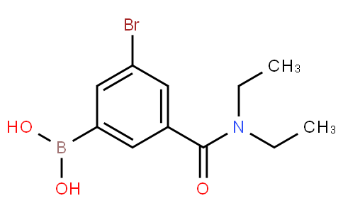 5-Bromo-3-(N,N-diethylaminocarbonyl)phenylboronic acid