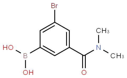5-Bromo-3-(N,N-dimethylaminocarbonyl)phenylboronic acid