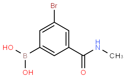5-Bromo-3-(N-methylaminocarbonyl)phenylboronic acid