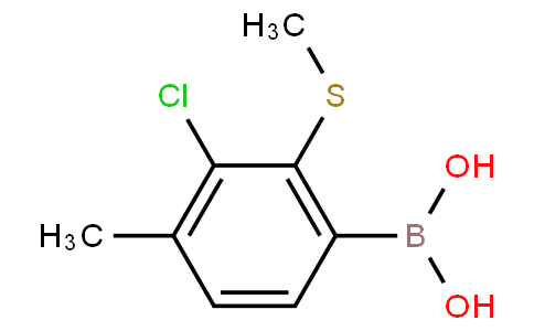 3-Chloro-4-methyl-2-(methylthio)phenylboronic acid