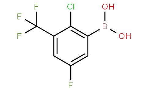 2-Chloro-5-fluoro-3-(trifluoromethyl)phenylboronic acid