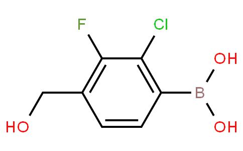 2-Chloro-3-fluoro-4-(hydroxymethyl)phenylboronic acid