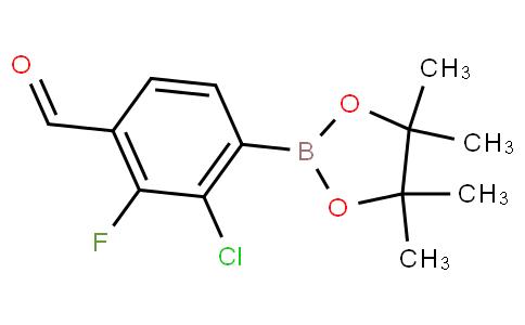 2-Chloro-3-fluoro-4-formylphenylboronic acid pinacol ester