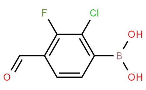 2-Chloro-3-fluoro-4-formylphenylboronic acid