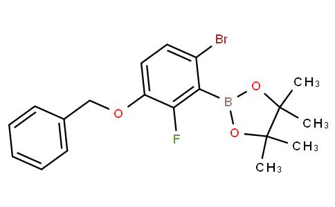 3-(Benzyloxy)-6-bromo-2-fluorophenylboronic acid pinacol ester