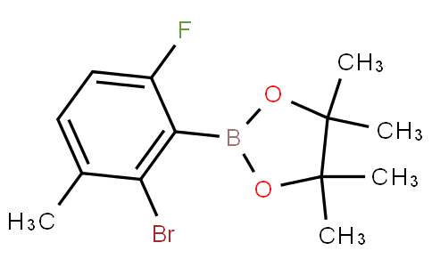 2-Bromo-6-fluoro-3-methylphenylboronic acid pinacol ester