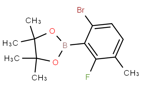 6-Bromo-2-fluoro-3-methylphenylboronic acid pinacol ester