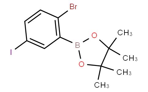 2-Bromo-5-iodophenylboronic acid pinacol ester