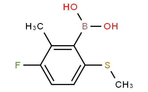 3-Fluoro-2-methyl-6-(methylthio)phenylboronic acid